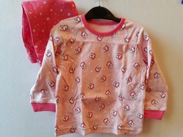 Піжама рожева для дівчинки 9-12 місяців