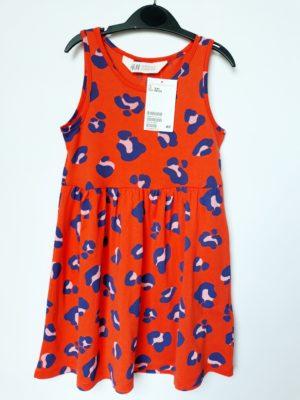 Сукня червона з синіми зображеннями H&M