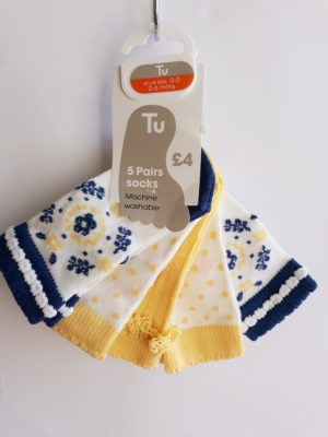 Шкарпетки на дівчинку 0-6 місяців TU