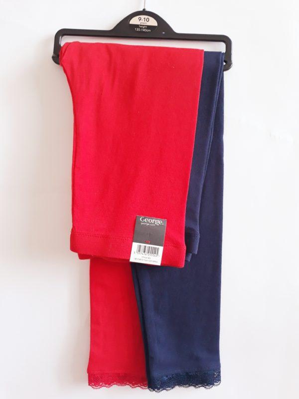 Легінси червоні та сині для дівчинки 9-10 років George