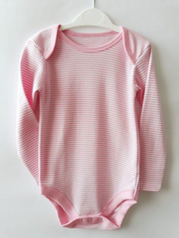 Боді смужки рожеві - Речі для малечі