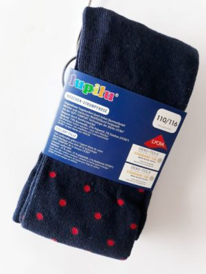 Колготи сині у красний горошок - Речі для малечі