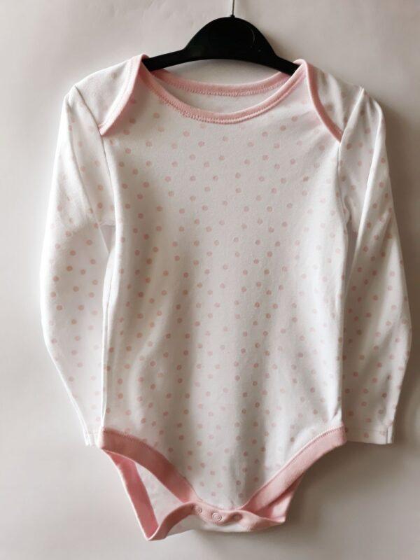 Боді на білому рожеве - Речі для малечі