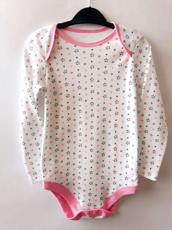 Боді зірки білі та рожеві - Речі для малечі