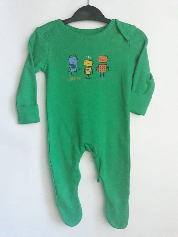 Сліп зелений з жовтим синім та червоним роботом для хлопчика George
