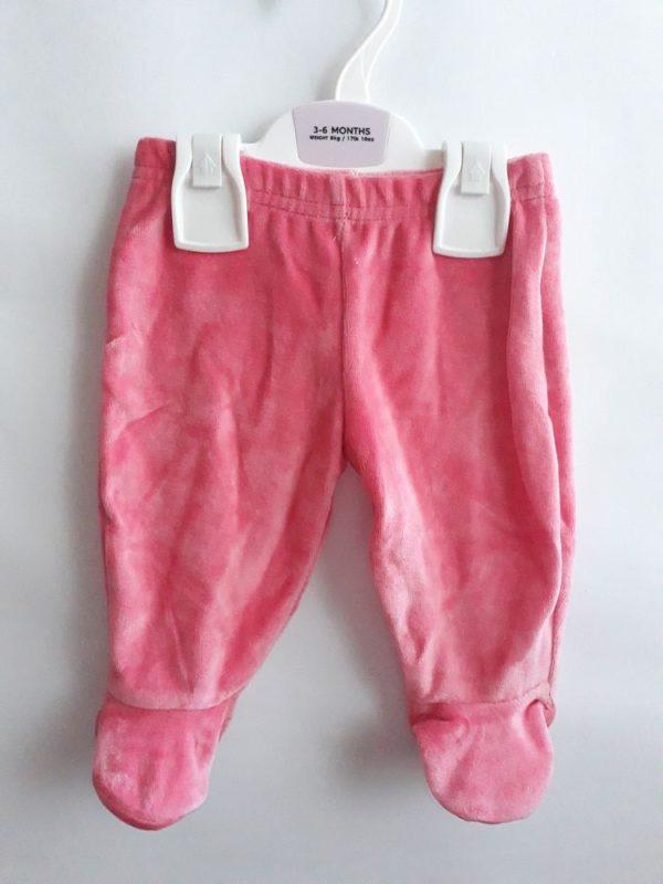 Велюрові штани червоні M&S
