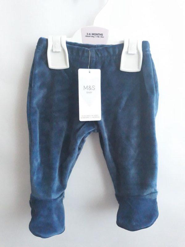 Велюрові штани сині M&S