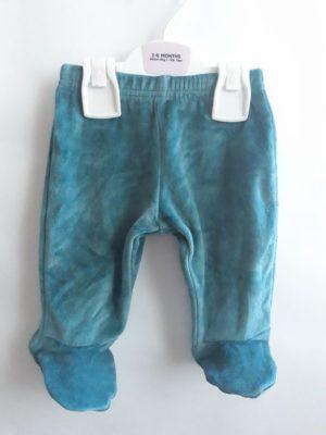 Велюрові штани зелені M&S