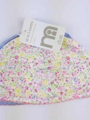 шапочка з квітами на дівчинку Mothercare