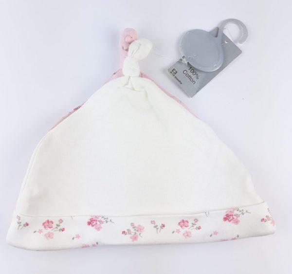 шапочка на немовля біла з квіточками Matalan