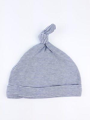 шапочка на хлопчика біла та синя смужка NEXT