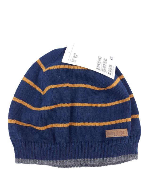 шапочка синя в смужку H&M