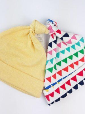 шапочки жовта та у трикутники NEXT