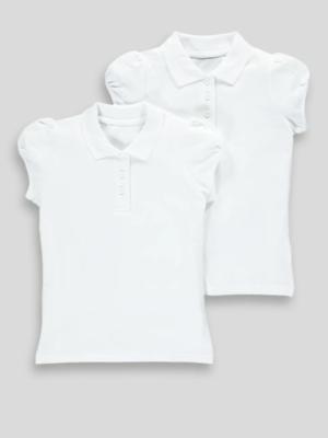 Поло для дівчинки біле Matalan