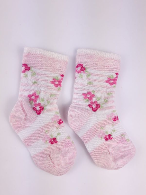 Шкарпетки квіти на рожевомуF&F
