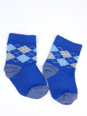 Шкарпетки сині білі блакитні ромби Mothercare