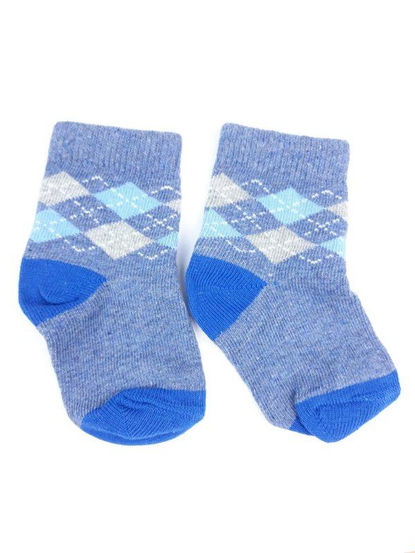 Шкарпетки білі сірі ромби Mothercare