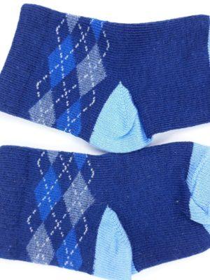 Шкарпетки сині та блакитні ромби Mothercare