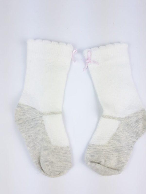 Шкарпетки малиново біло сіріTU