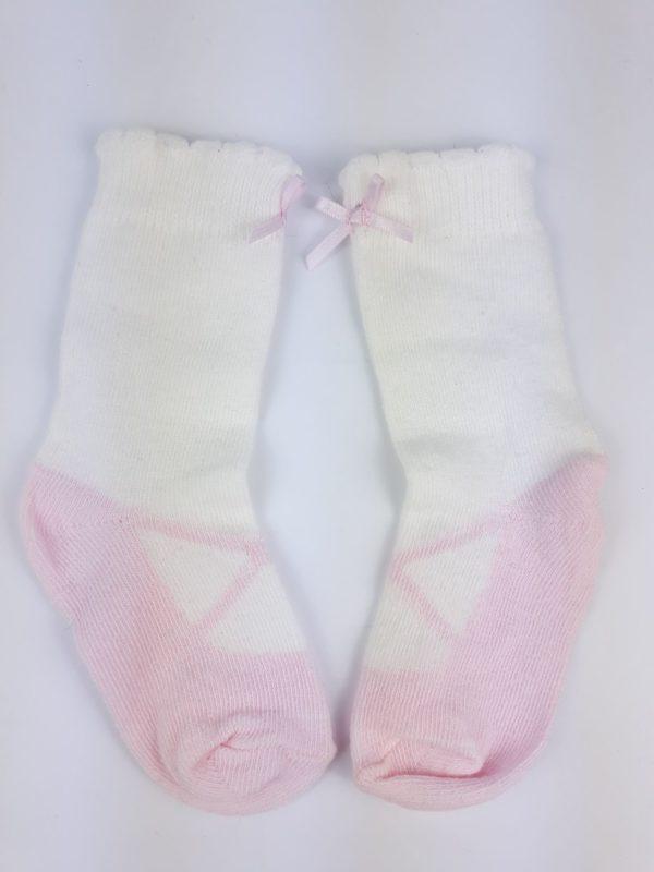 Шкарпетки малиново біло рожеві з бантикомTU