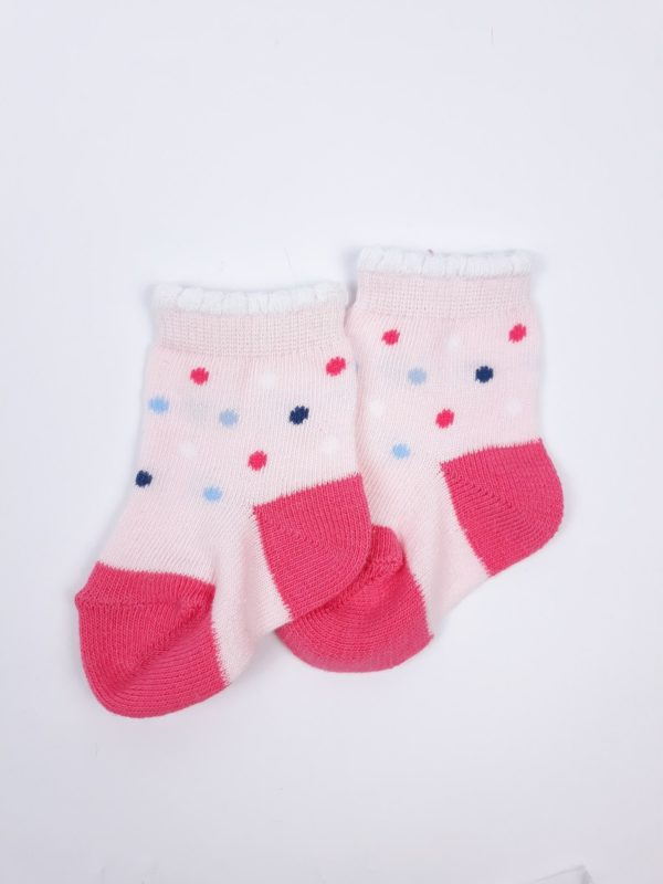 Шкарпетки рожево червоні F&F