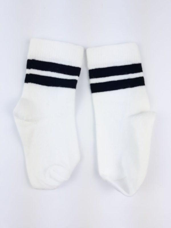 Шкарпетки чорні смужки на білому H&M