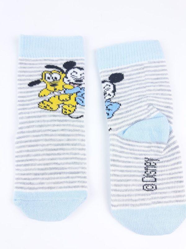 Шкарпетки Плуто і Мікі на сірому H&M