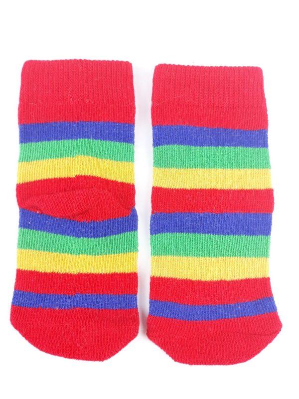 Шкарпетки біло зелені червоні та жовті смужки TU