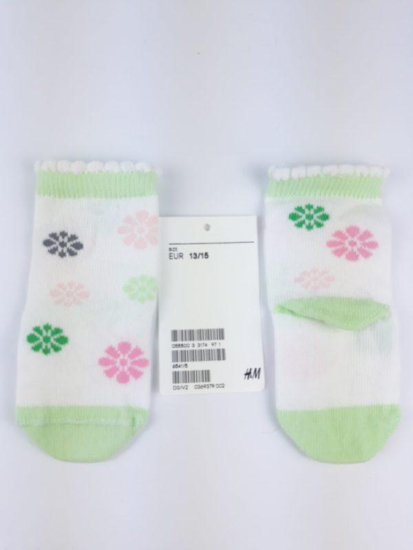 Шкарпетки кольорові квіти H&M