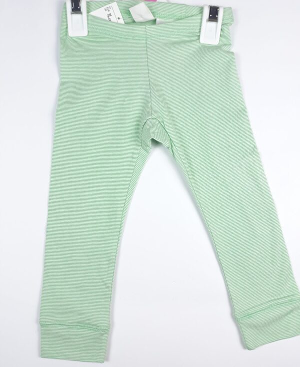 Штани біла та зелена смужка H&M
