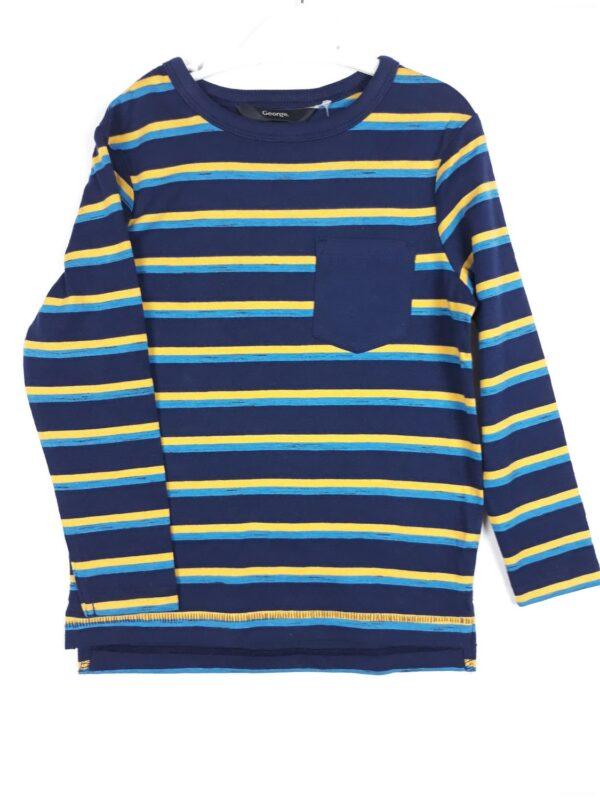 Реглан синя жовта та блакитна смужка George