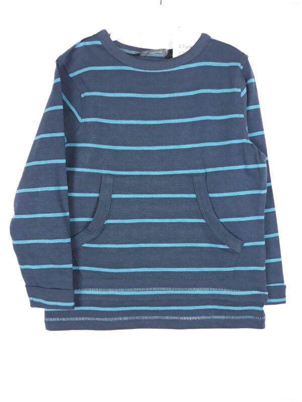 Реглан з кишенями синьо-блакитна смужка George