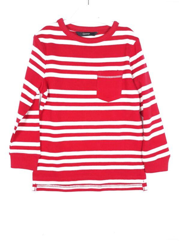 Реглан червоний з білою смужкою George