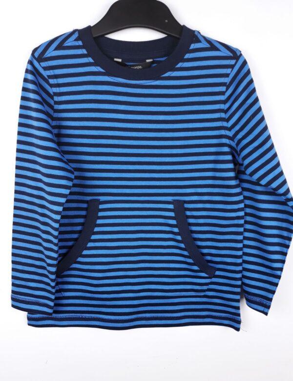 Реглан з кишенями синя та блакитна смужка George