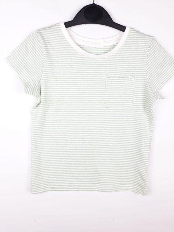 футболка смужка світло зелена та біла George