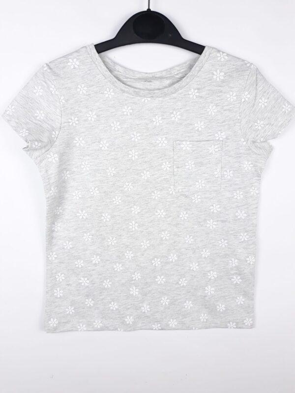 футболка сіра з білими квітами George