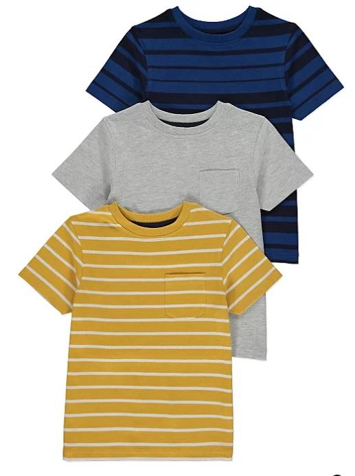 набір футболок жовта сіра та синя George