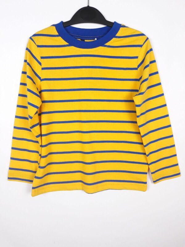 Реглан жовтий у синю смужку George