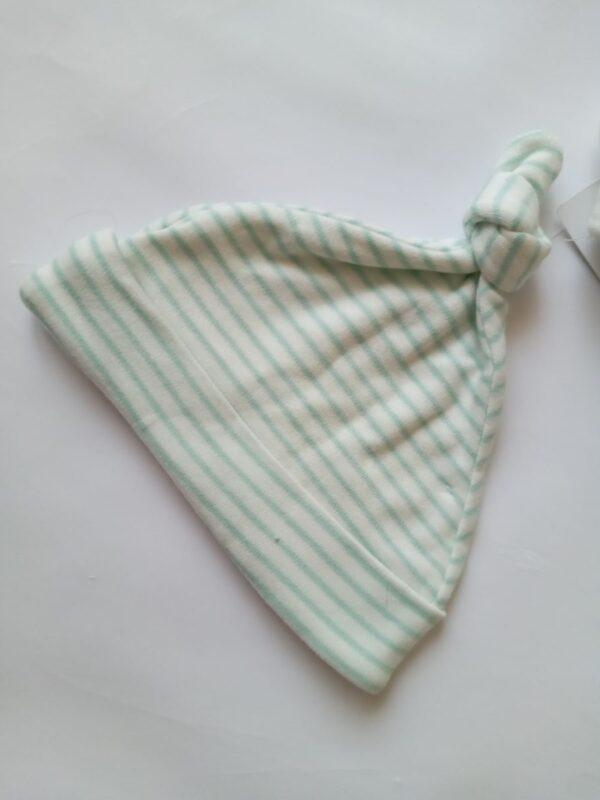 шапочка біла та зелена смужка M&S