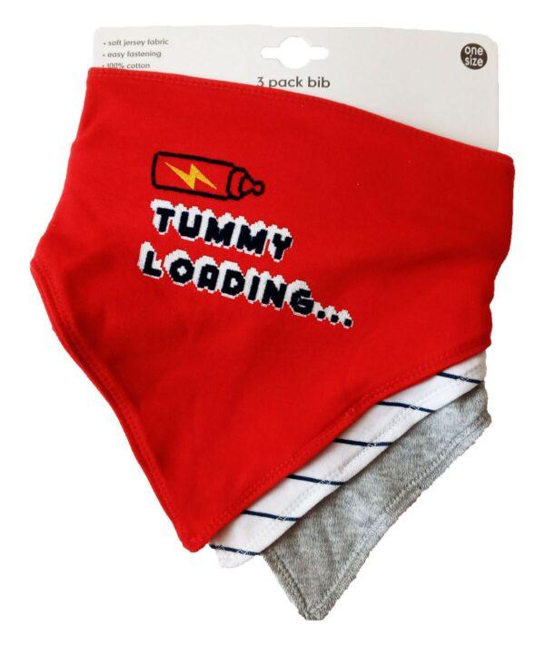 Набір слинявчиків червоний Tummy George