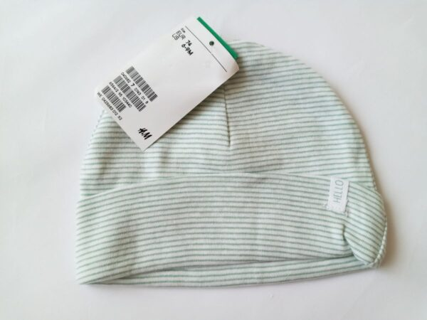 Шапочка біло зелена смужка H&M