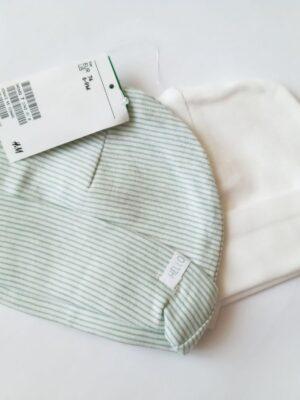 Набір шапочок біло зелені H&M