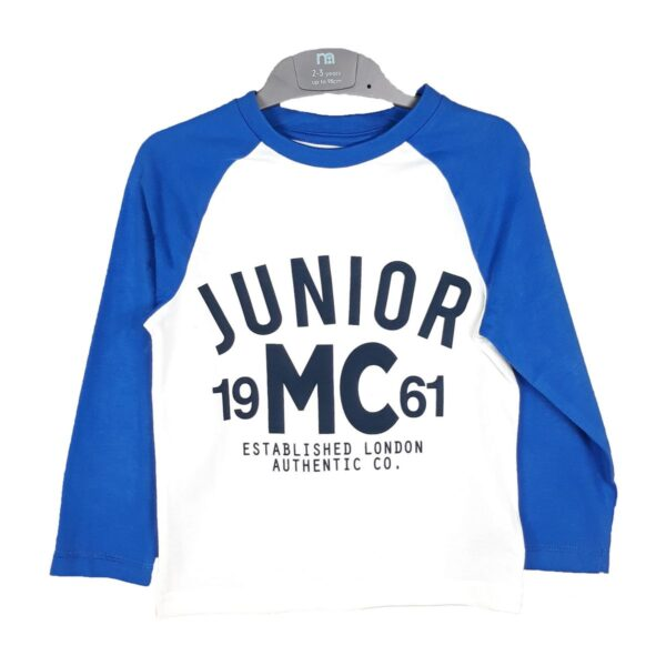 Реглан синьо-синій Junior Mothercare