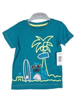 футболка зелена на пляжі Matalan