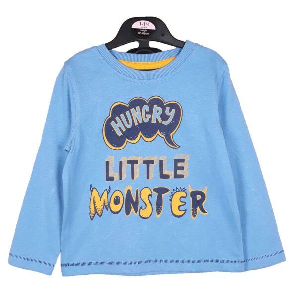 Реглан блакитний Little Monster George