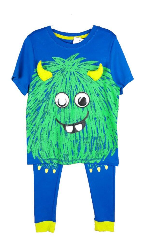 Піжама синя з зеленим монстром George