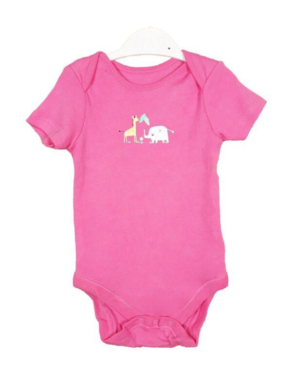 Боді рожевий з слоном та жирафою Dunnes Stores