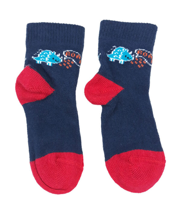шкарпетки синьо-червоні з драконом George