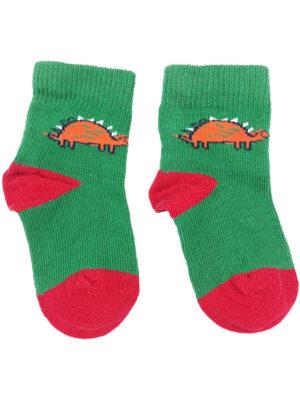 шкарпетки зелено-червоні з драконом George