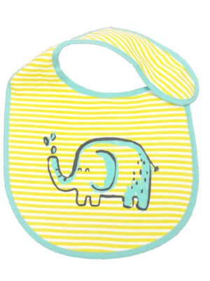 Слинявчик жовтий з зеленим слоном DUNNES STORES